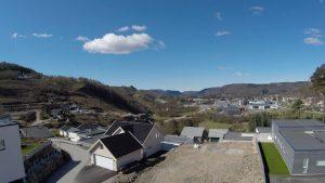 Utsikt fra nye leiligheter i Hagekleiva, Lyngdal